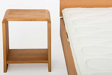 Bedside table Belledonne, metal-free, natural oil finish